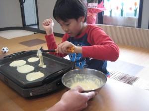 ホットケーキ作り2