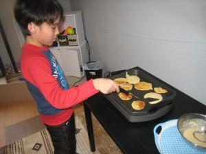 ホットケーキ作り3