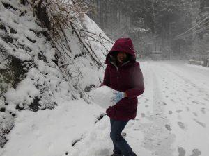 こもれびから雪遊びへ5