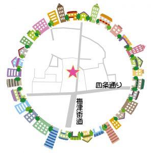 こもれび段町地図