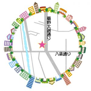 こもれび西京極地図
